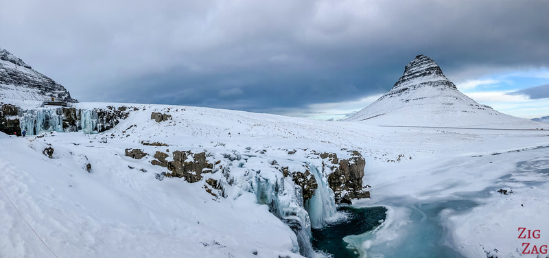 Kirkjufellsfoss in Winter