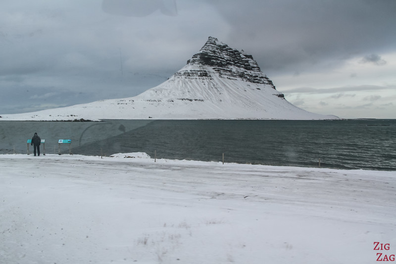 Driving to Kirkjufell - mountain view