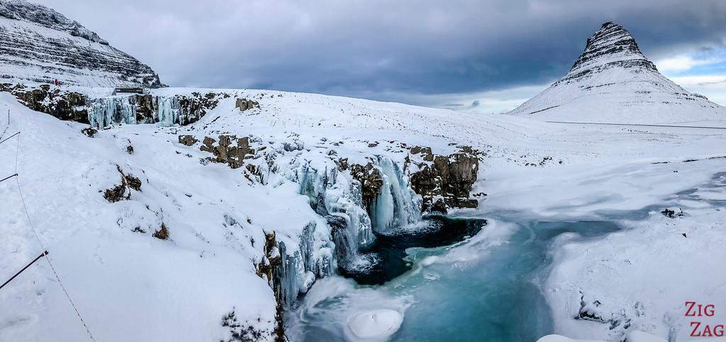 visit Kirkjufellsfoss in Winter