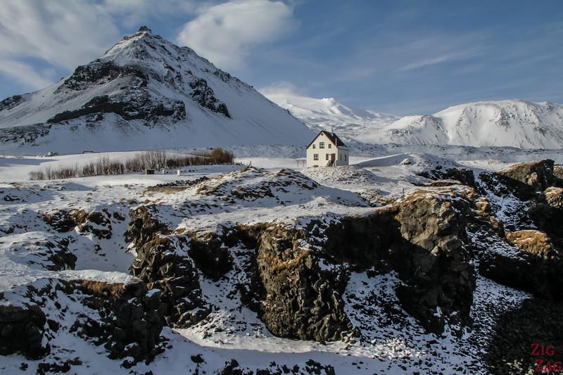 Arnarstapi coast in Winter