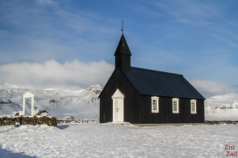 things to do Snaefellsnes winter - black church