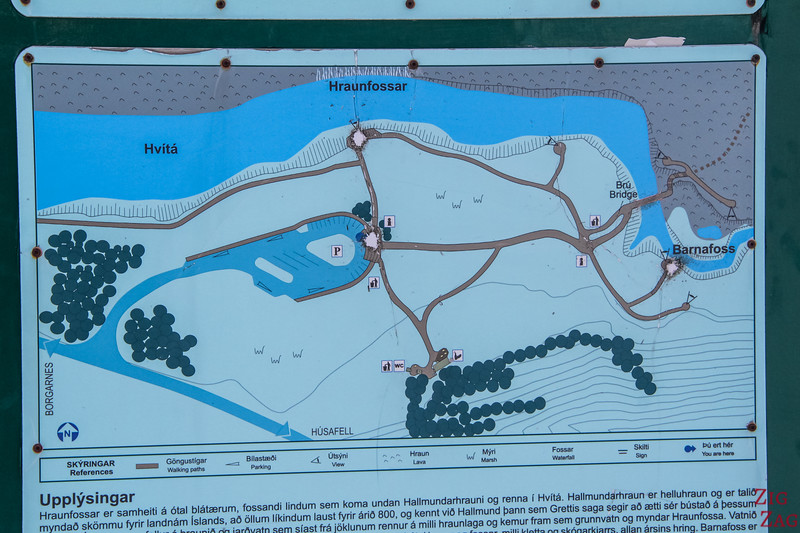 map Hraunfossar Winter Accessibility -