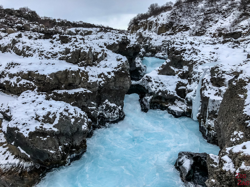 Barnafoss in Winter