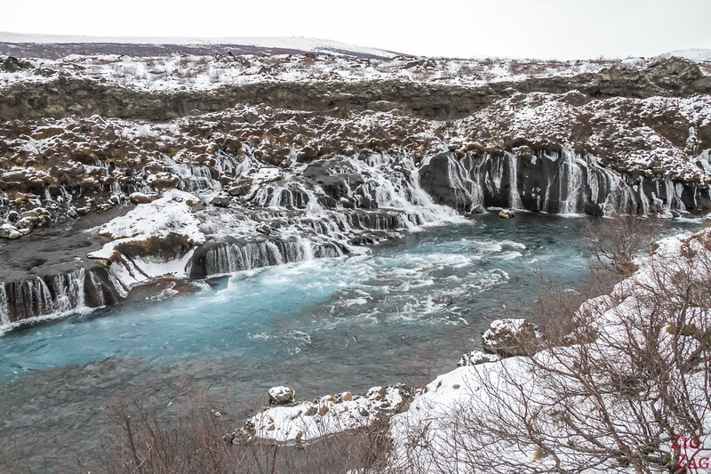 Hraunfossar in Winter