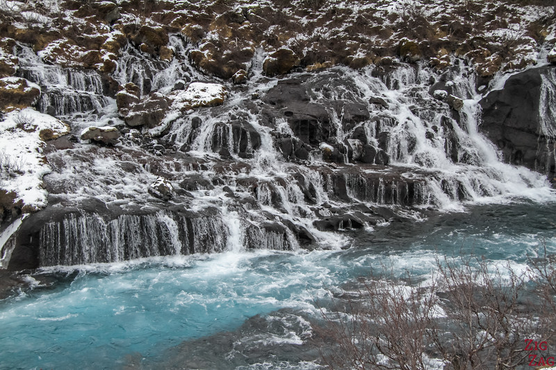 waterfall of Hraunfossar, Iceland 2