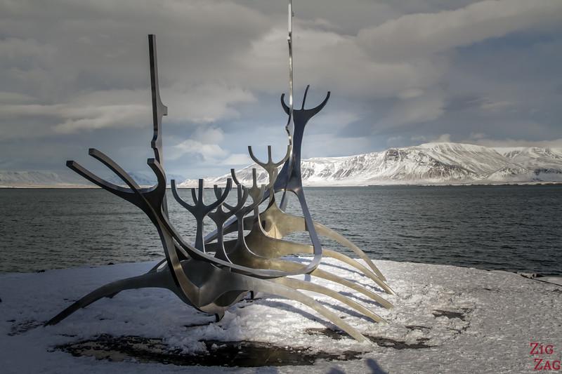 Sun Voyager mit dem Schnee