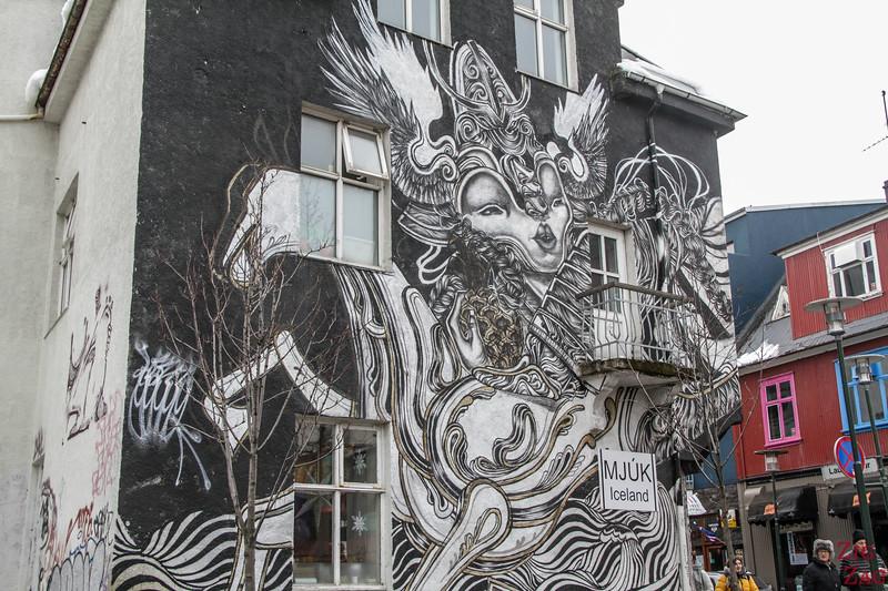 Straßenkunst in Reykjavik