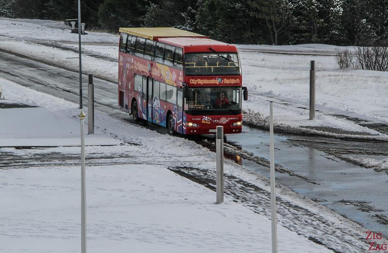 Getting around Reykjavik in winter - bus