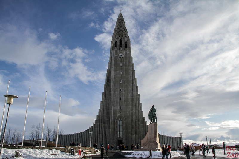 Reykjavik Cathedral in Winter