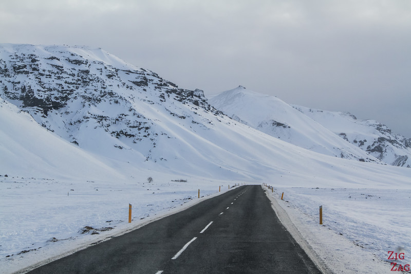 Winter driving conditions in Iceland