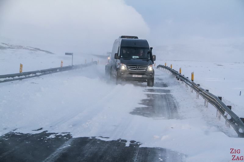 Snow in Iceland