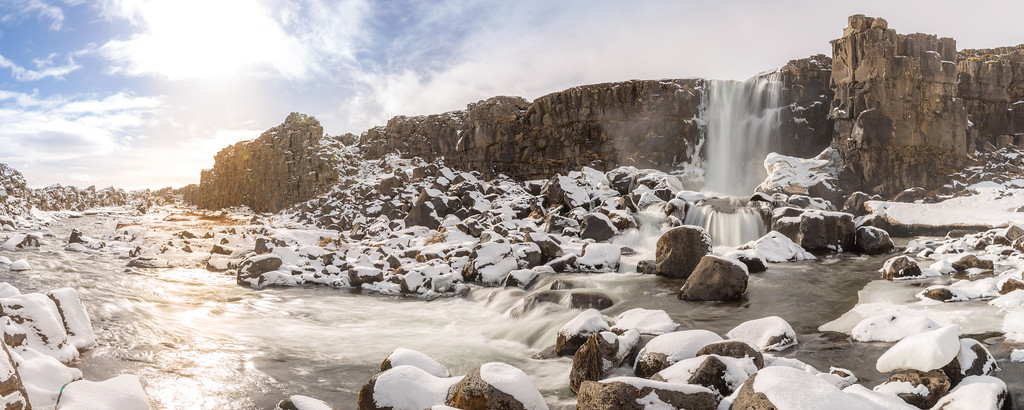 Oxararfoss in Winter