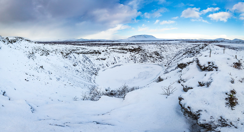 Kerid crater in Winter