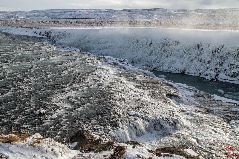 Gullfoss waterfall in Winter 3