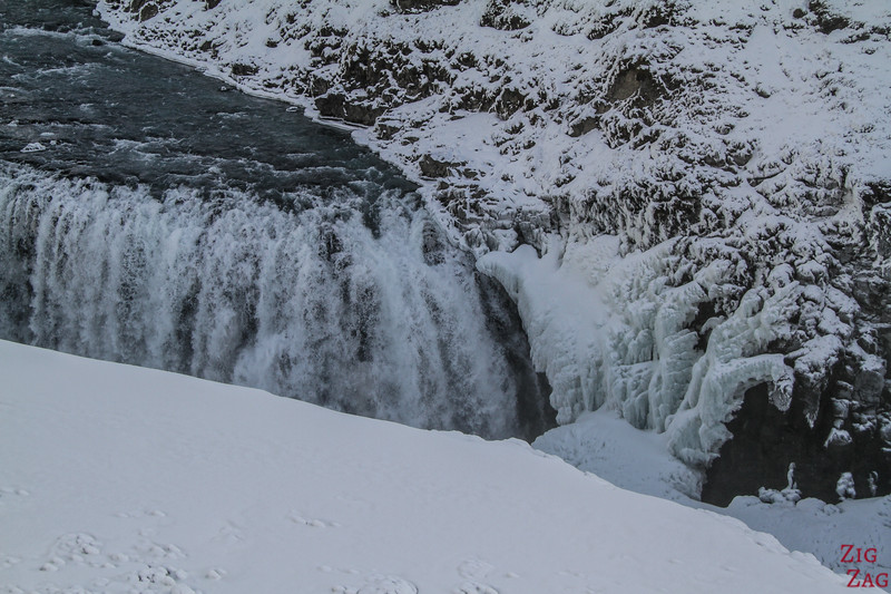 Gullfoss waterfall in Winter - lower carpark 3