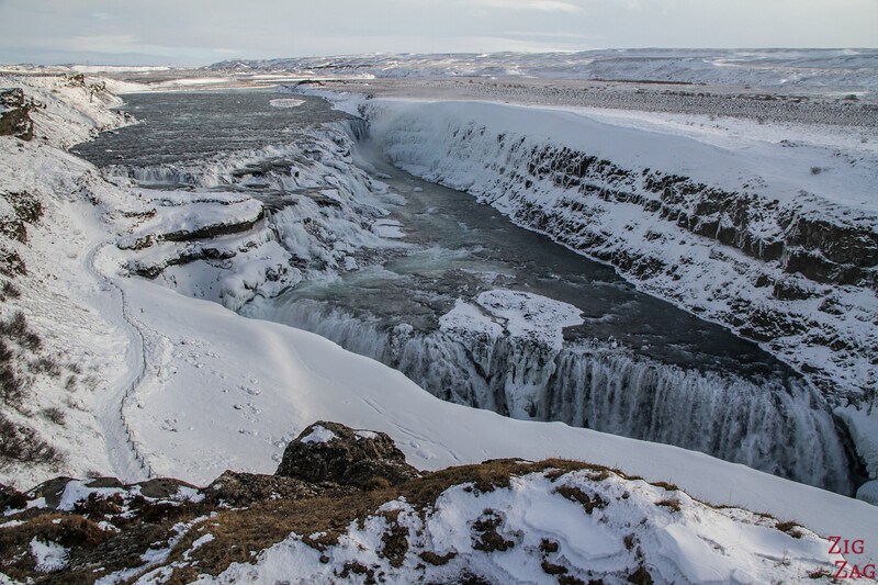 Gullfoss Winter - upper viewpoint 2