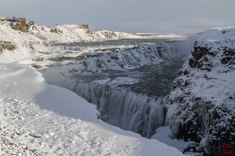 Gullfoss waterfall in Winter 1