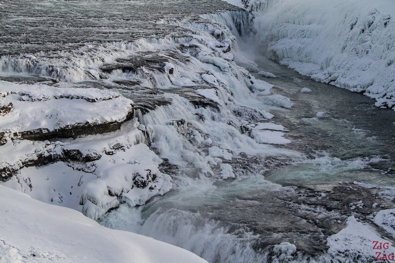 Gullfoss Winter - upper viewpoint 3
