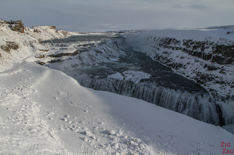 Gullfoss waterfall in Winter - lower carpark 2