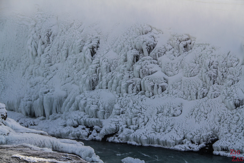 Gullfoss in Winter - canyon view 5