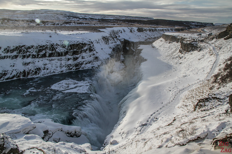 Iceland Winter Highlights - Gullfoss waterfall
