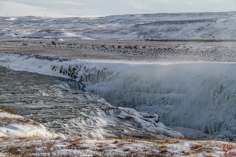 Gullfoss in Winter - canyon view 4