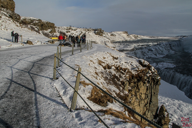Gullfoss waterfall in Winter - lower carpark 1