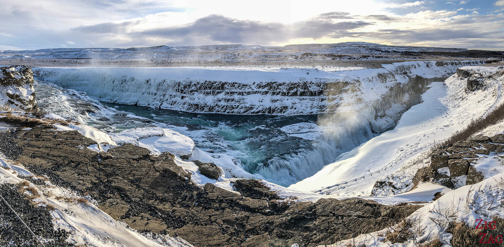 Gullfoss in Winter - canyon view 1