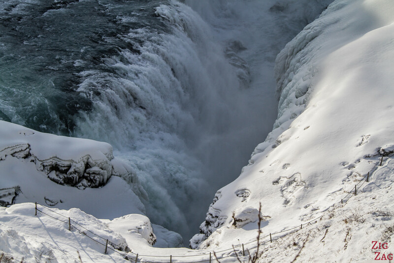 Gullfoss in Winter - canyon view 3