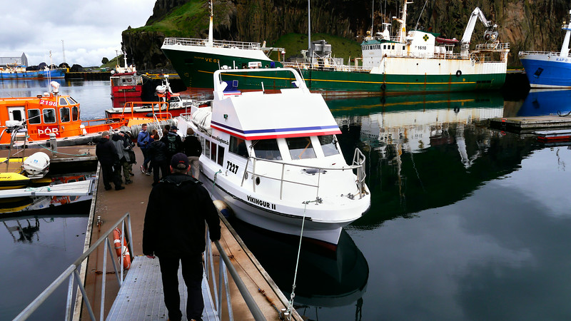 Iceland (Westman Island), June 2014, Overseas Adventure Travel (OAT) trip.<br /> We get ready to board one of our tour boats.