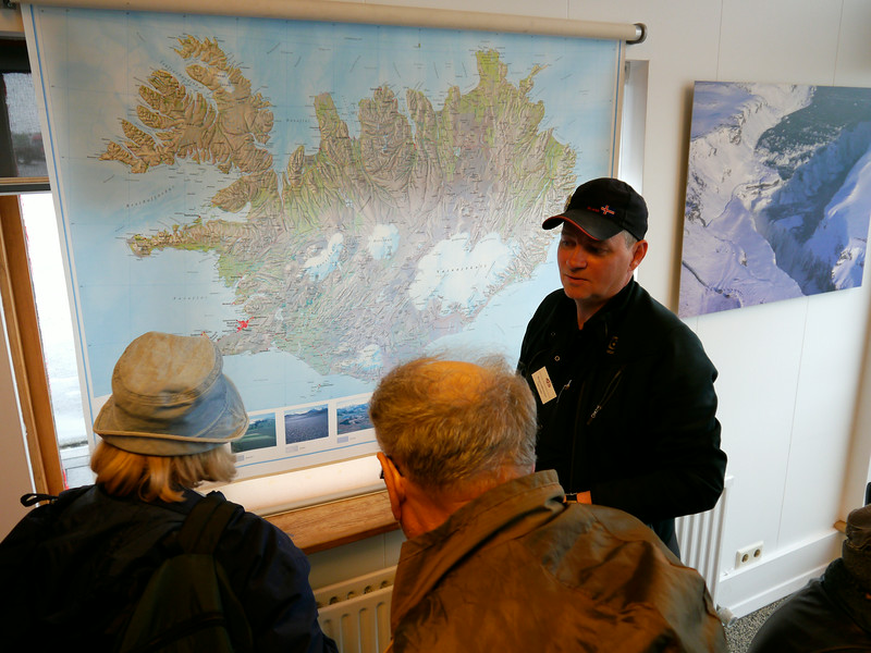 Iceland (Westman Island), June 2014, Overseas Adventure Travel (OAT) trip.<br /> Beggi giving us some info about Iceland.