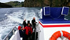 Iceland (Westman Island), June 2014, Overseas Adventure Travel (OAT) trip.<br /> Out to sea on the tour boat.  Anna Yokoyama in the red jacket.