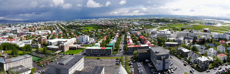 Iceland, June 2014, Overseas Adventure Travel (OAT) trip.<br /> Views of Reykjavik from the top of the Church.