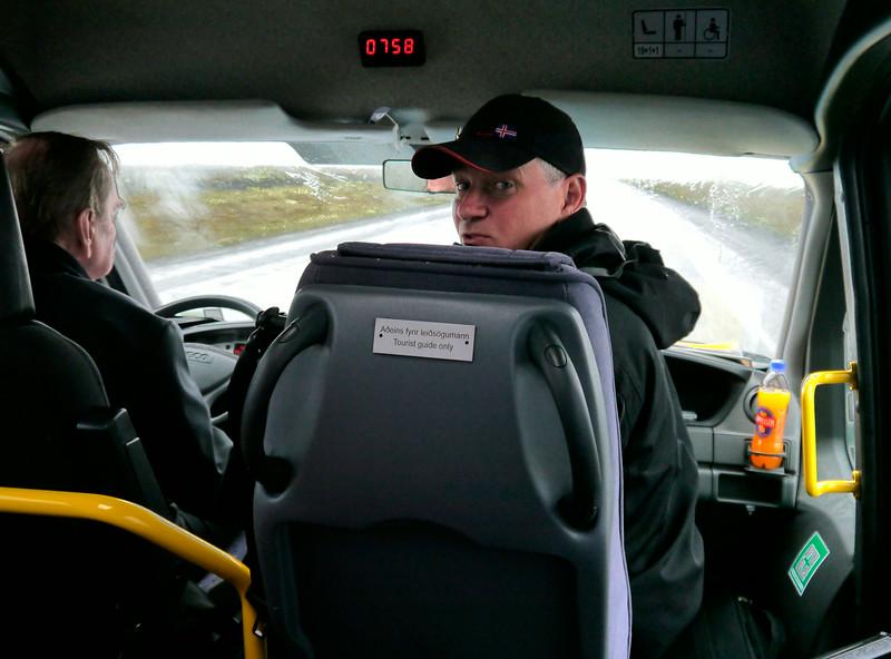 "Iceland (Westman Island), June 2014, Overseas Adventure Travel (OAT) trip.<br /> ""Beggi"", our OAT Guide."