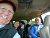 Iceland, June 2014, Overseas Adventure Travel (OAT) trip.  <br /> Now we are in a couple of 4-wheel drive vehicles for a tour of the southern coastal region.  Anna and Mel Yokoyama are  behind me.