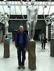 This image was taken by Mel Yokoyama and graciously provided to me.  <br /> Me imitating a statue.  Reykjavik Airport, just before our flights home.  Iceland, OAT, June 2014.