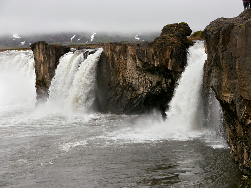 Iceland, June 2014, Overseas Adventure Travel (OAT) trip.<br /> The GOÐAFOSS (Waterfall of the Gods).