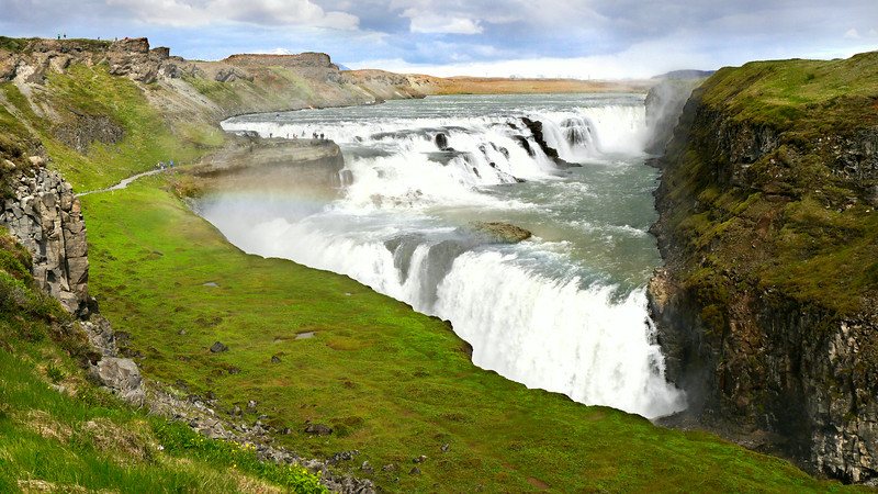 Iceland, June 2014, Overseas Adventure Travel (OAT) trip.<br /> Gullfoss Waterfalls.