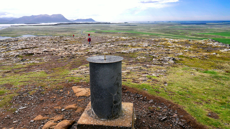 """Iceland, June 2014, Overseas Adventure Travel (OAT) trip.<br /> Helgafell (""""holy mountain"""") is a small mountain on the Snæfellsnes Peninsula of Iceland. The mountain is 73 metres (240 ft) high, and a temple in honor of Þór was built there by the first settler of the area, Þórólfr Mostrarskegg. We climbed to the top!"""