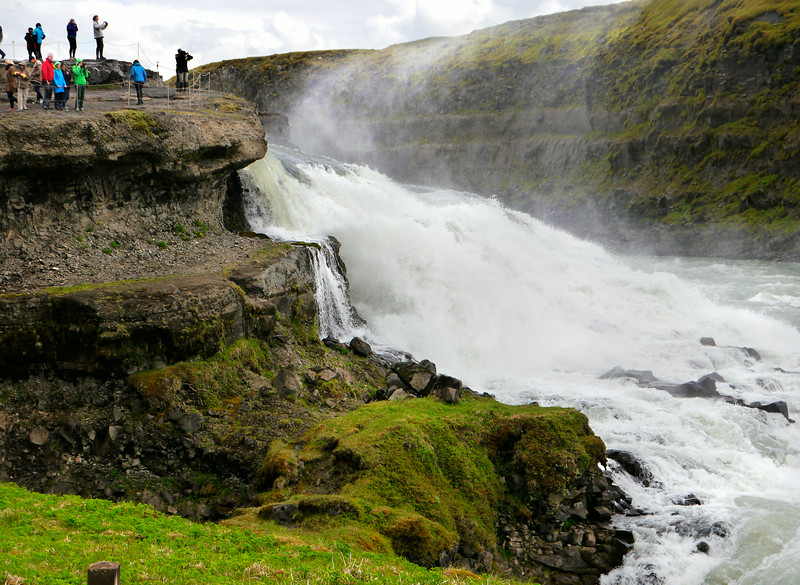 Iceland, June 2014, Overseas Adventure Travel (OAT) trip.<br /> Gullfoss Waterfalls.