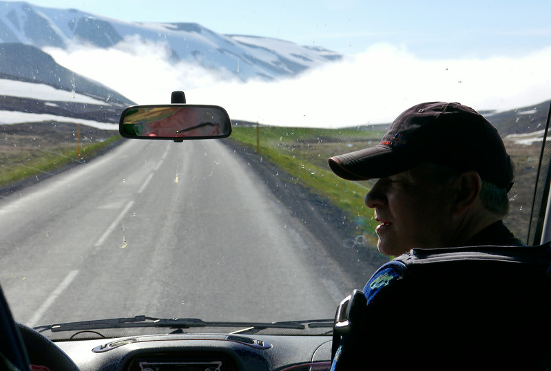 Iceland, June 2014, Overseas Adventure Travel (OAT) trip.<br /> Another day, back on the bus.