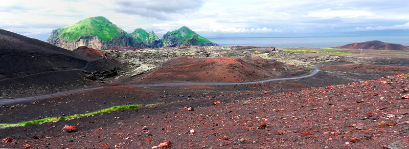 Iceland (Westman Island), June 2014, Overseas Adventure Travel (OAT) trip.<br /> We walk out on the actual site of the 1973 volcano eruption.  Fascinating!