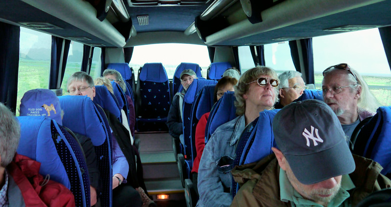 Iceland, June 2014, Overseas Adventure Travel (OAT) trip.<br /> Out on the tour bus.