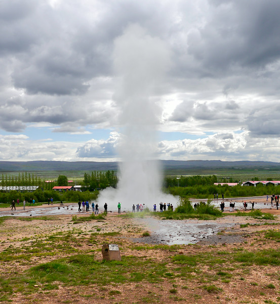 Iceland, June 2014, Overseas Adventure Travel (OAT) trip.<br /> Geysir, the geyser from which all others take their name.  Other smaller (tiny) geysers there too.