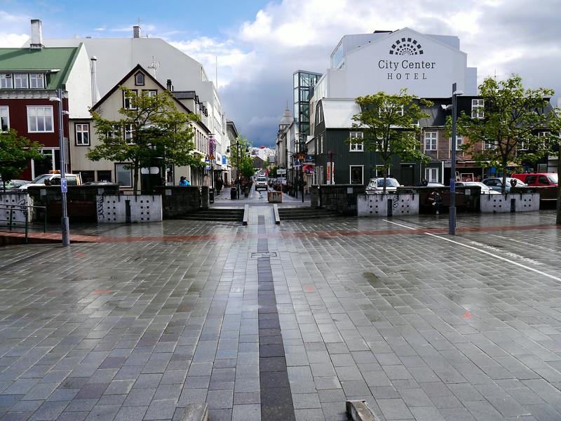 Iceland, June 2014, Overseas Adventure Travel (OAT) trip.<br /> Reykjavik, Ingolfstorg Square.