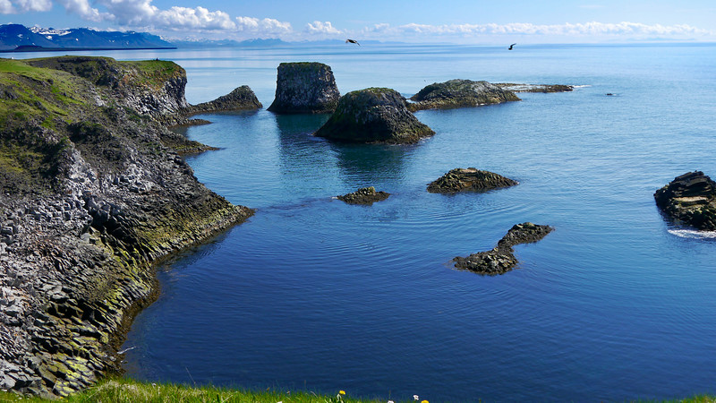 Iceland, June 2014, Overseas Adventure Travel (OAT) trip.<br /> Village of Arnarstapi.