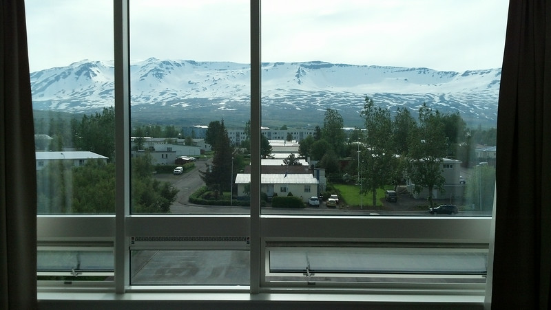 "Iceland, June 2014, Overseas Adventure Travel (OAT) trip.  <br /> View from my room at the Icelandair Akureyri Hotel in Akureyri. <br />  <a href=""http://www.icelandairhotels.com/en/hotels/akureyri"">http://www.icelandairhotels.com/en/hotels/akureyri</a>"