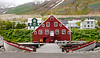 """Iceland, June 2014, Overseas Adventure Travel (OAT) trip.<br /> Siglufjörður. This is Iceland's nothernmost town.  It grew up around the herring industry that flourished in the 1940s and 1950s, but the herring are gone now.  We have a wonderful lunch at the """"Hannes Boy"""" restaurant and then tour the Herring Museum and walk around the small town."""