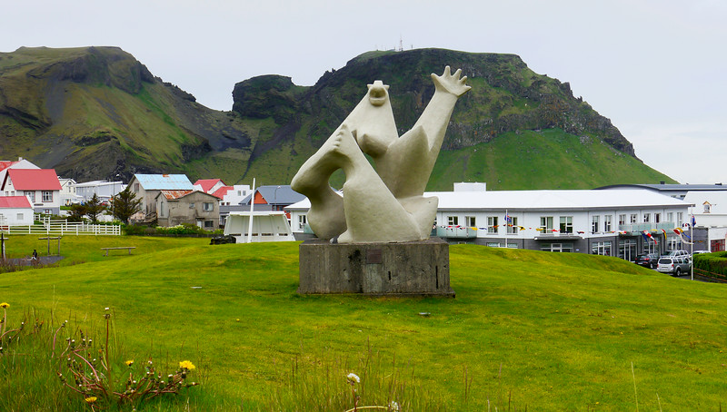 Iceland (Westman Island), June 2014, Overseas Adventure Travel (OAT) trip.<br /> A sculpture in the Park, a few blocks from the hotel.
