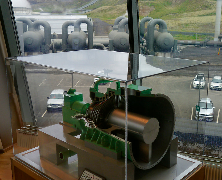 Iceland, June 2014, Overseas Adventure Travel (OAT) trip.  <br /> Hellisheidi Geothermal Power Station.  Maybe the the second or third largest in the world.  I think the largest one is in the U.S.